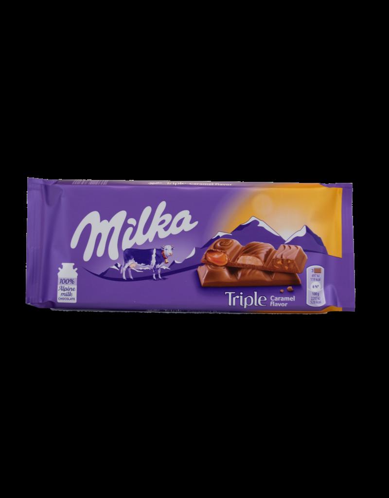 Milka Milka Triple Caramel Chocolate Bar 87g