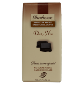 Duchesse Duchesse Sugar Free Dark Chocolate 100g