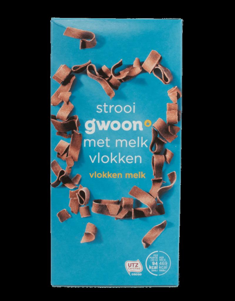 Gwoon Gwoon Milk Chocolate Flakes 300g