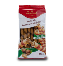 Imperial Wafer Rolls with Hazelnut 160g
