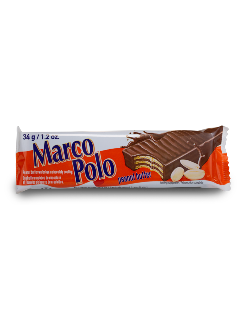 Marco Polo Marco Polo Peanut Butter Wafer Bar 34g