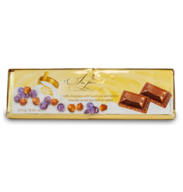 Imperial Hazelnut and Raisin Chocolate Bar 250g