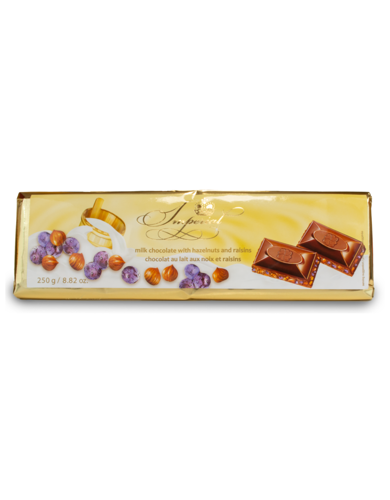 Imperial Imperial Hazelnut and Raisin Chocolate Bar 250g