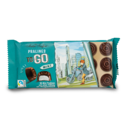 Maitre Truffout Prailines to Go Milk Chocolate with Mint 100g