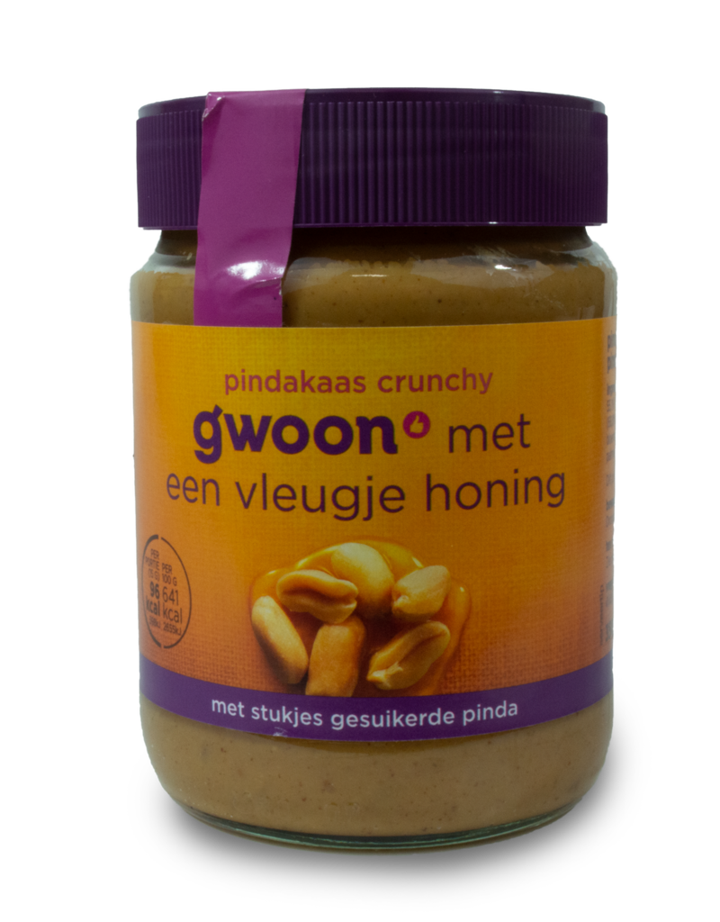 Gwoon Gwoon Peanut Butter - Crunchy with Honey 350g