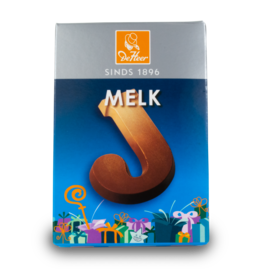 DeHeer Chocolate Letter 65g Milk J