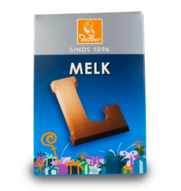 DeHeer Chocolate Letter 65g Milk L