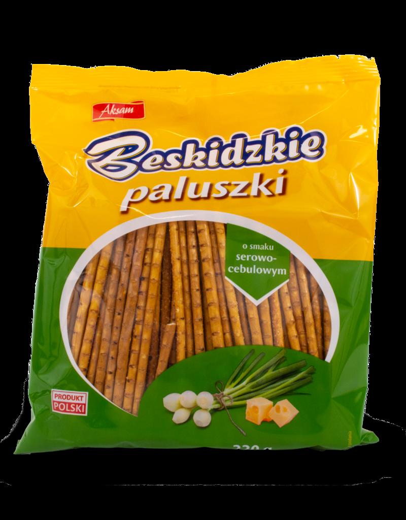 Aksam Aksam Beskidzkie Breadsticks - Cheese & Onion 220g