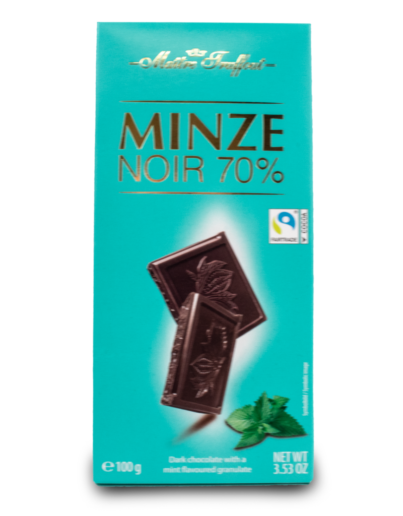 Maitre Truffout Maitre Truffout Dark Chocolate with Mint 100g