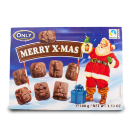 Only Merry Christmas Chocolate Box 100g