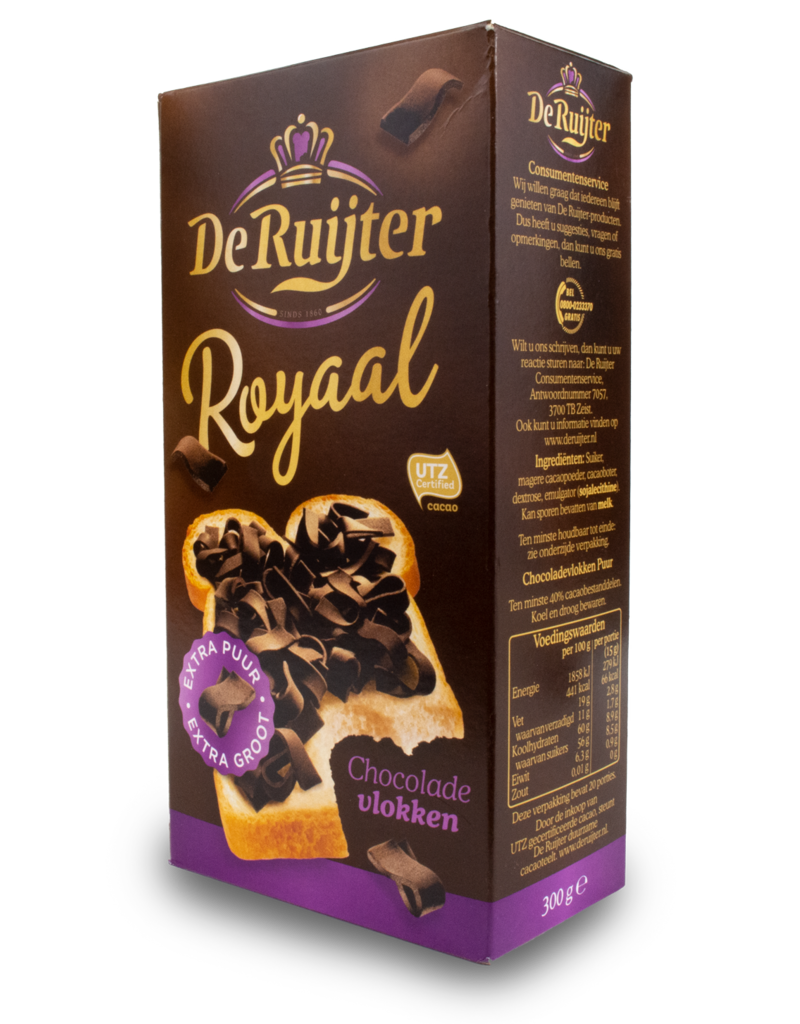 De Ruijter De Ruijter Flakes Royaal Extra Dark 300g