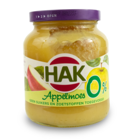 Hak Applemoes 0% Sugar 360g