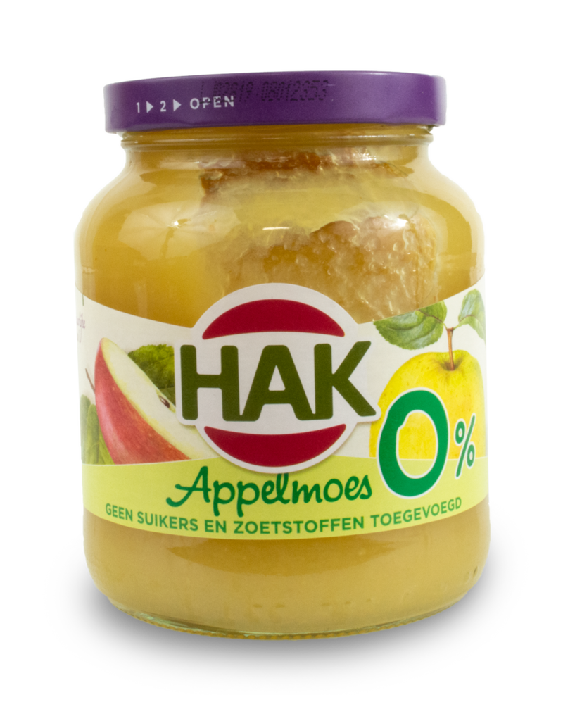 Hak Hak Applemoes 0% Sugar 360g