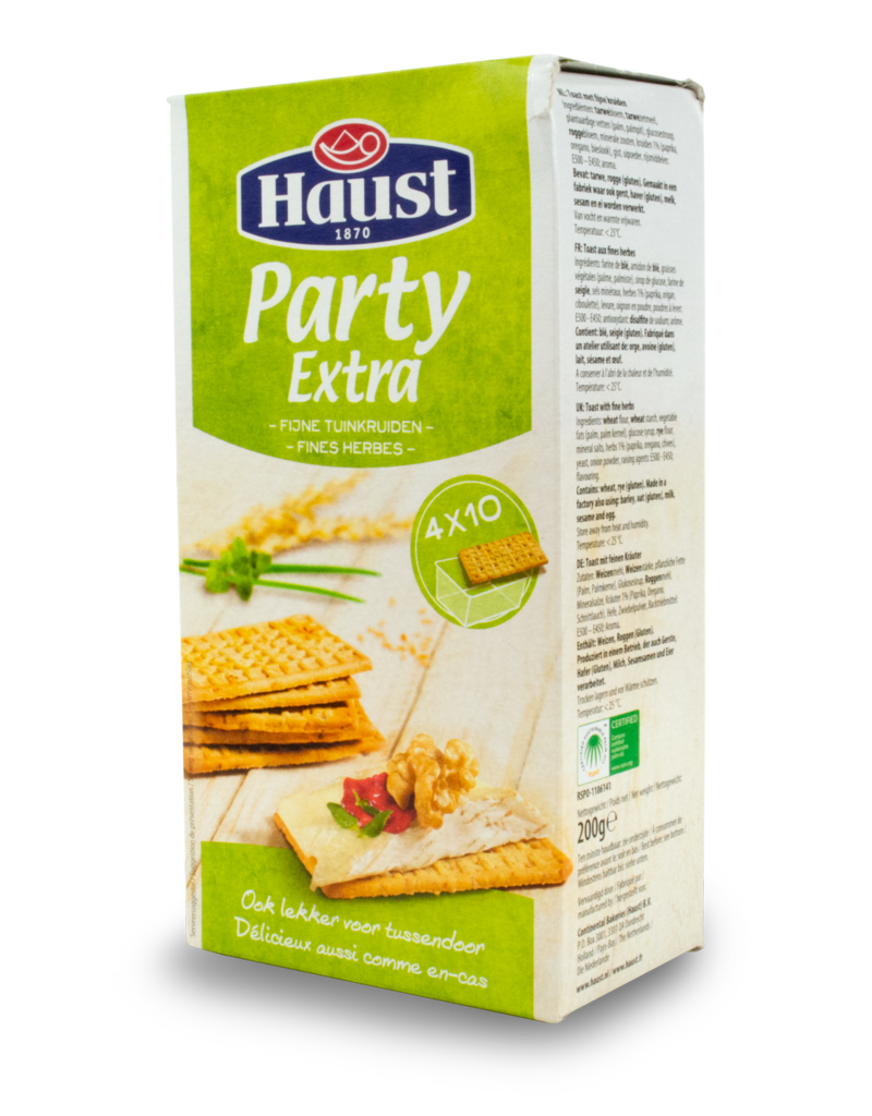 Haust Haust Party Crackers Extra 200g