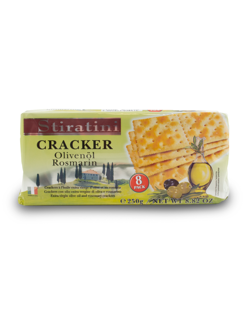 Stiratini Stiratini Crackers Extra Virgin Olive Oil and Rosemary 250g