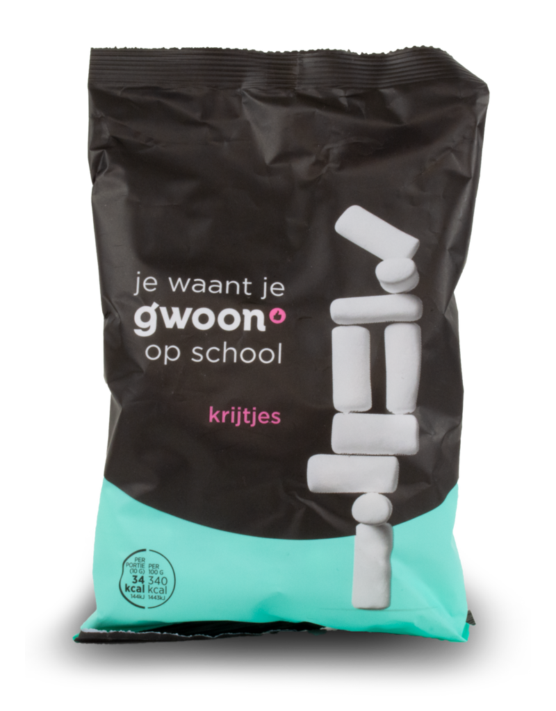 Gwoon Gwoon School Chalk Liquorice 250g