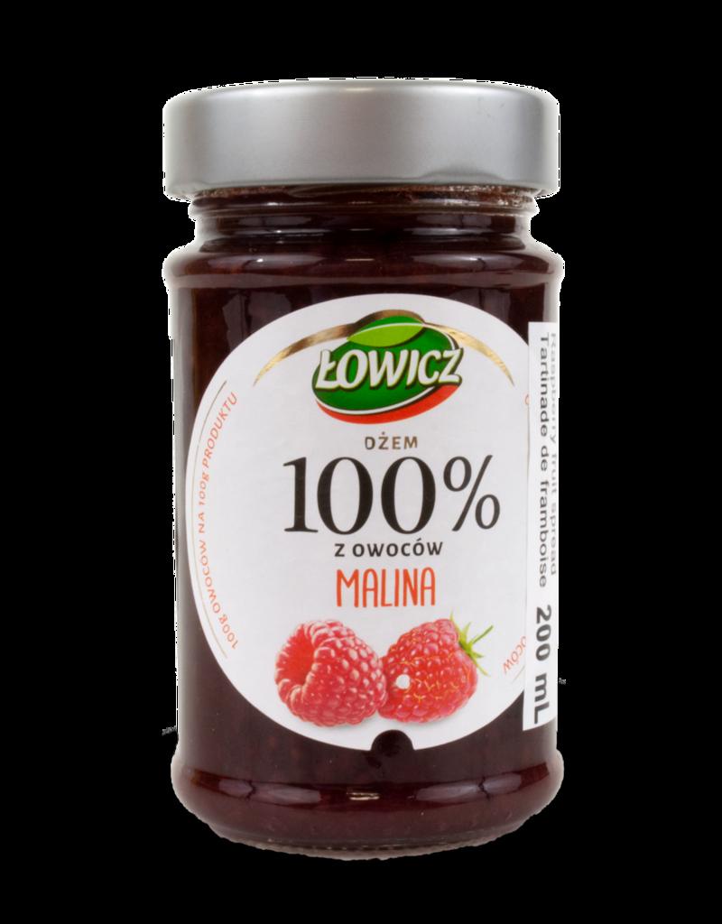 Lowicz Lowicz 100% Raspberry Jam 220g