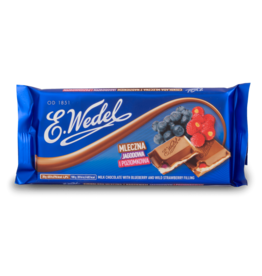 Wedel Chocolate - Blueberry & Wild Strawberry 100g