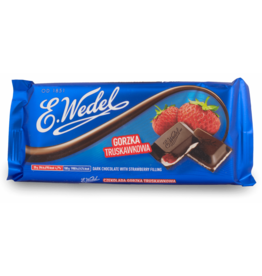 Wedel Chocolate - Dark with Strawberry 100g