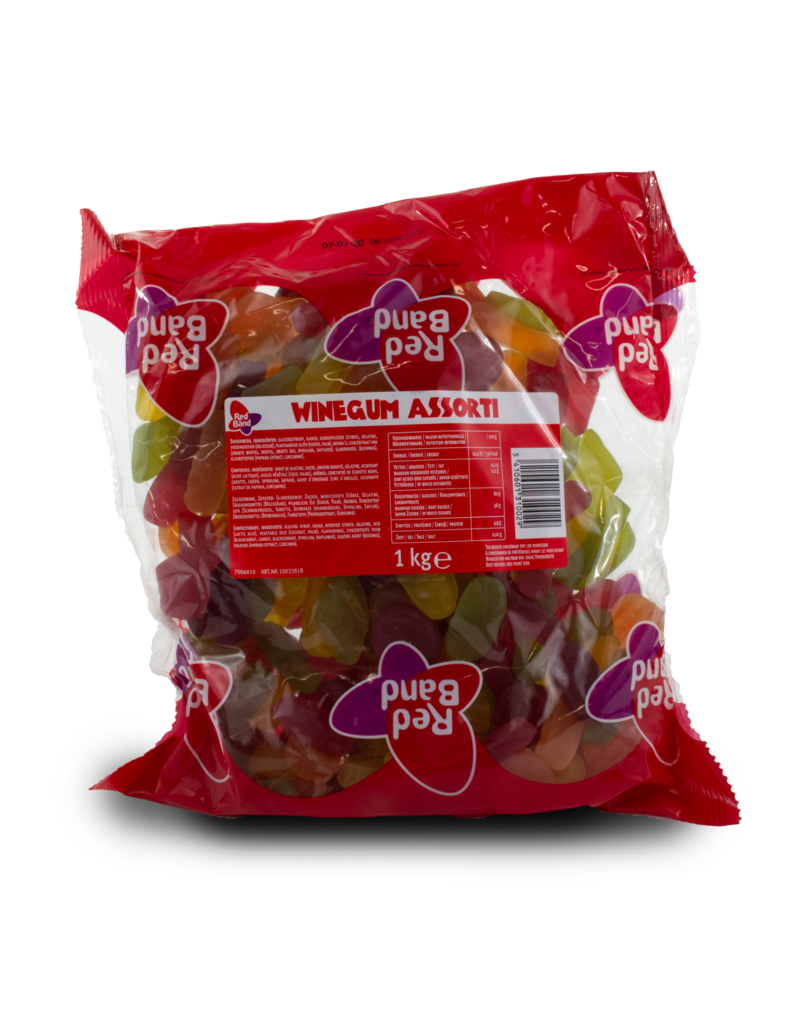 Venco Red Band Wine Gum Assorted 1kg