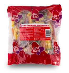 Red Band Sour Sticks 1kg