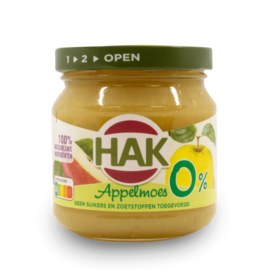 Hak Applemoes 0% Sugar 190g