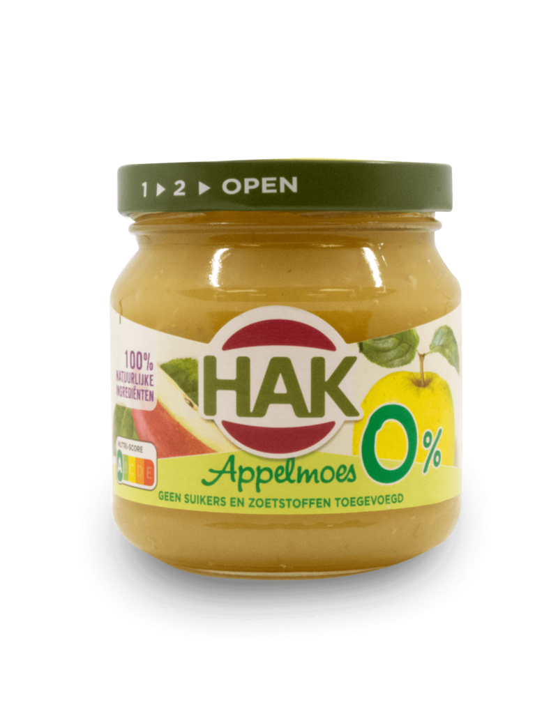 Hak Hak Applemoes 0% Sugar 190g