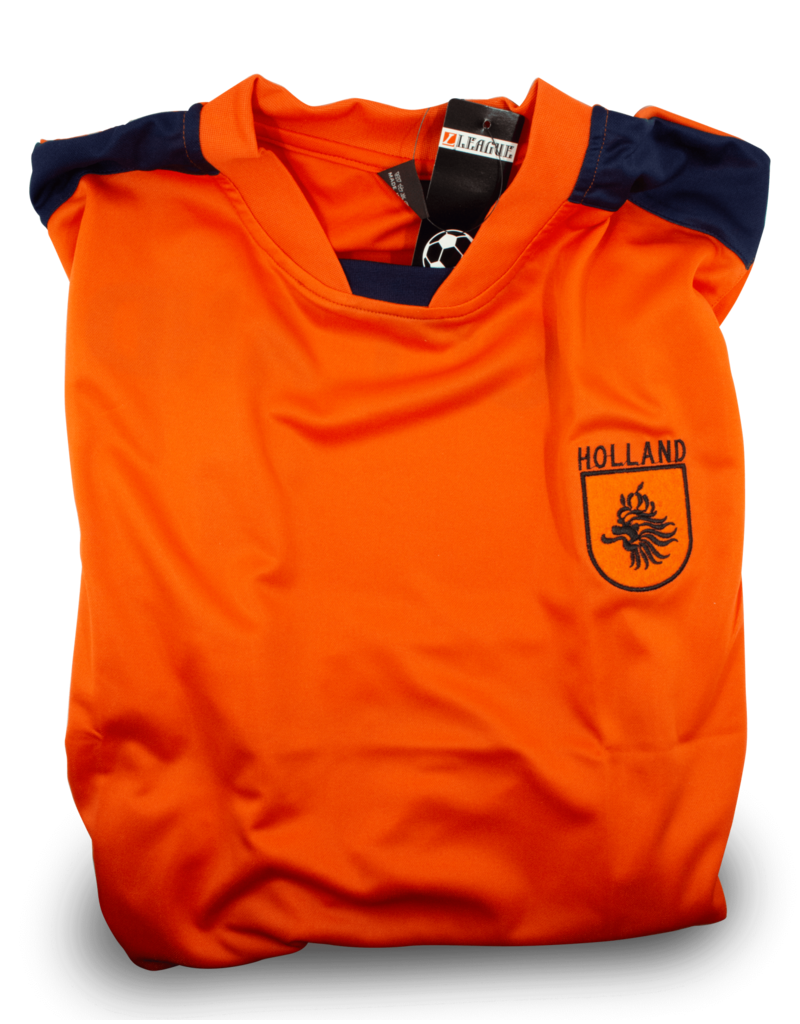 Shirt - Orange Soccer Holland Patch