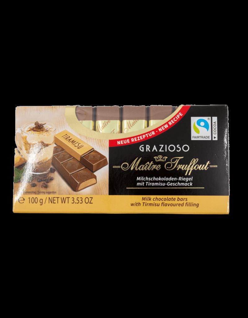 Maitre Truffout Maitre Truffout Grazioso Milk Chocolate with Tiramisu 100g