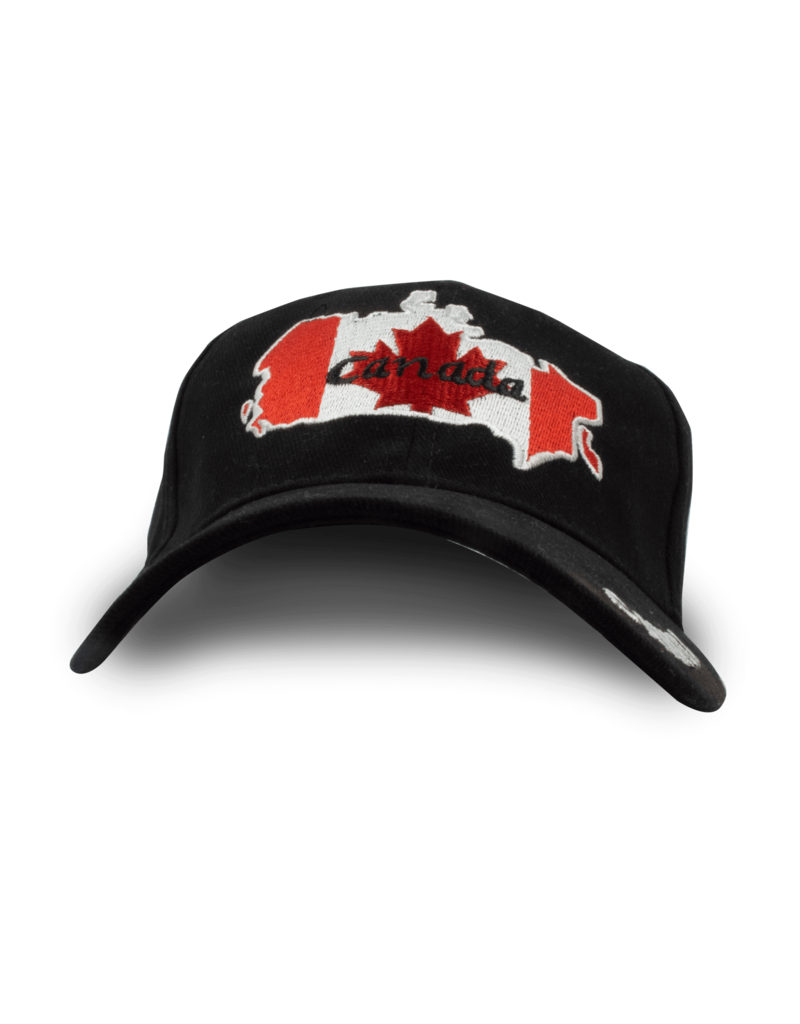 Cap - Canada Map, Black