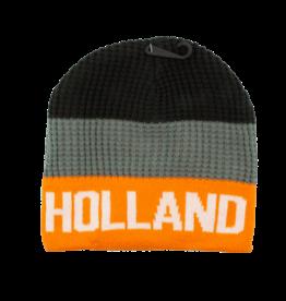 Toque - Holland Striped Black Grey Orange