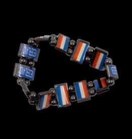Beaded Bracelet - Netherlands Flag