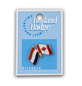 Holland Badge - Canada Netherlands Flag Pin