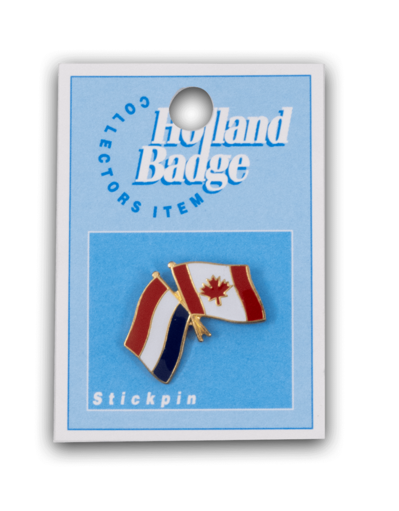 Holland Badge - Canada Netherlands Flag Pin