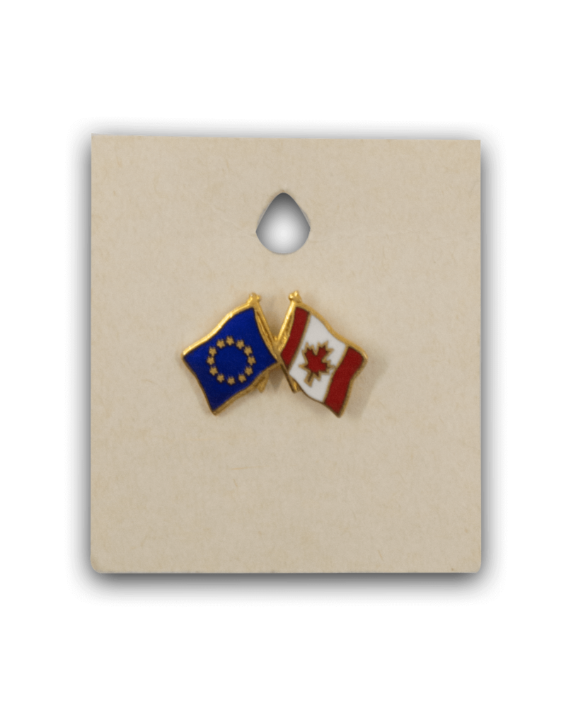Flag Pin - Canada European Union