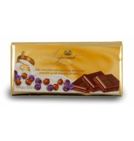 Imperial Raisin Hazelnut Chocolate Bar 100g