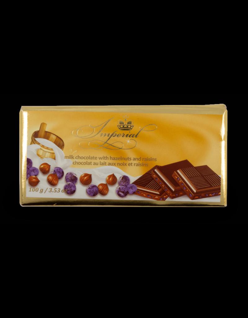 Imperial Imperial Raisin Hazelnut Chocolate Bar 100g