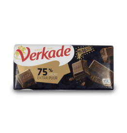 Verkade 75% Cocoa Extra Dark Chocolate Bar