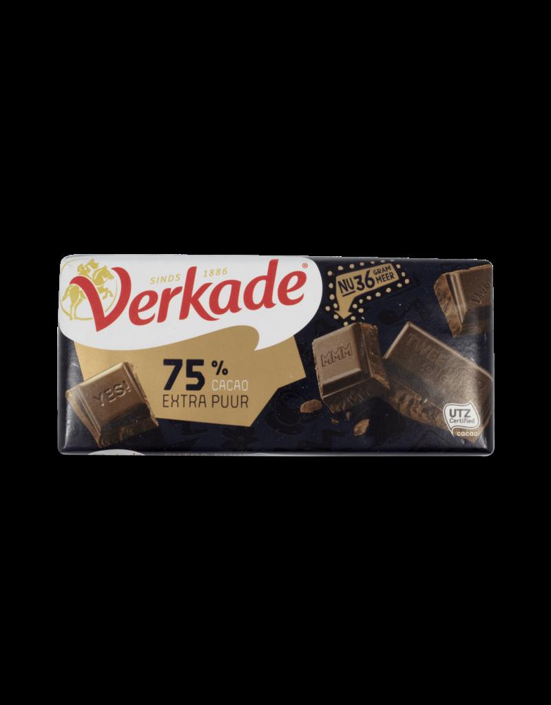 Verkade Verkade 75% Cocoa Extra Dark Chocolate Bar
