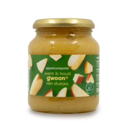 Gwoon Apple Compote with Pieces 350g