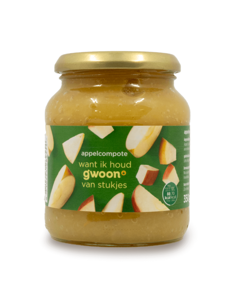 Gwoon Gwoon Apple Compote with Pieces 350g