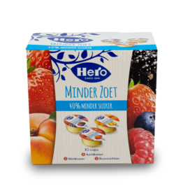 Hero Reduced Sugar Jam Cups 10x20g