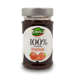 Lowicz 100% Strawberry Jam 220g