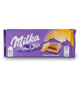 Milka Cream & Biscuit 100g