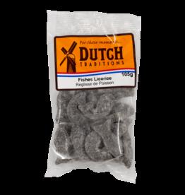 Dutch Tradition Fish-Shaped Liquorice 105g