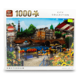 King Puzzle - 1000pcs - Amsterdam Cartoon