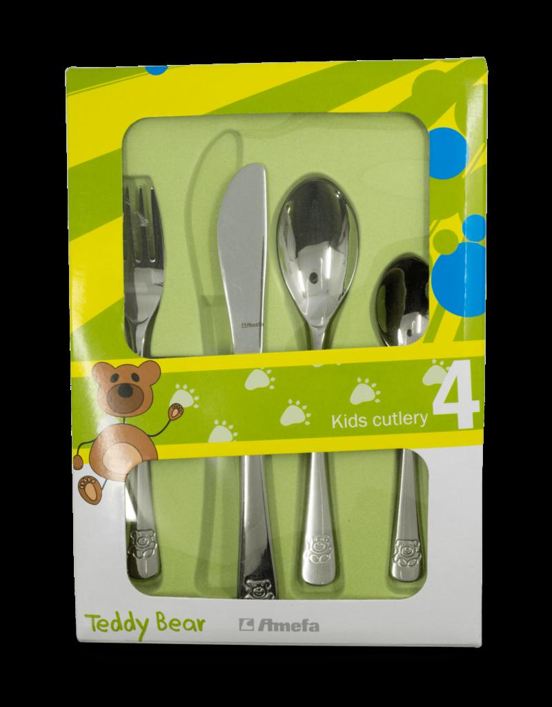 Amefa Childrens Cutlery 4pc - Teddy Bear