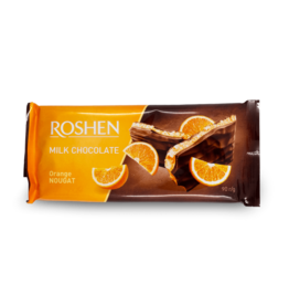 Roshen Milk Chocolate Orange Nougat Bar 90g