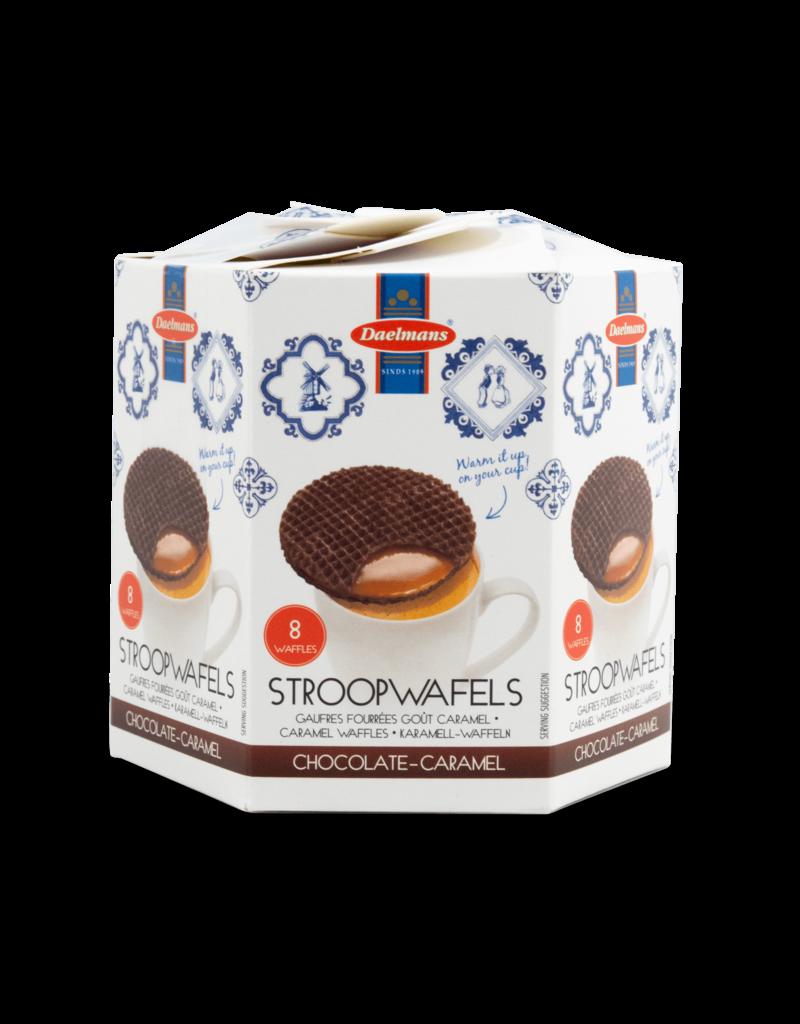 Daelmans Daelmans Chocolate Stroopwafels Hex Box 8pk