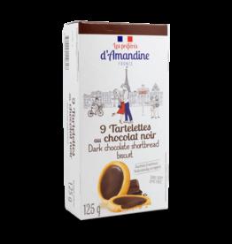 D'Amandine Dark Chocolate Shortbread Cookies 125g